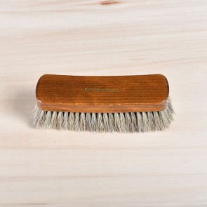 Large luxury shoe shine brush, 100% horsehair