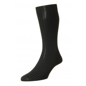 Pantherella Socks - Rib Black