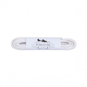 Waxed Shoe Laces - White