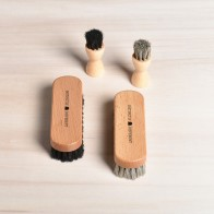 Set of Distinctly Different shoe care brushes, 100% horsehair