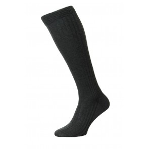 Pantherella Socks OTC - Rib Dark Grey