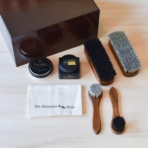 Shoe Care Box Brown - Incl. Set
